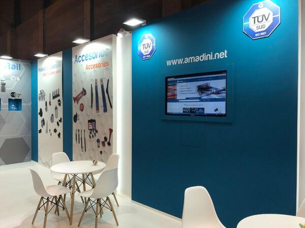 Stand Diseñado por Grupo Ariza para Amadini Motortec 2019 IFEMA Madrid