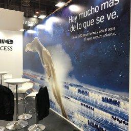 Detalles lonas impresas Gran formato del Stand de Blautec Tecnova 2019 Ifema Madrid