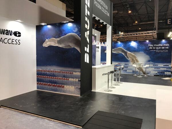 Blautec stand de diseño de Grupo Ariza