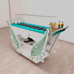 Carro Ensaladas mobiliario ad hoc