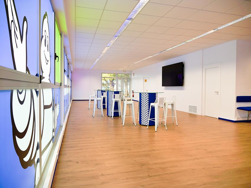 Vidowall_Michelin_Aranda El Espacio del Cliente en las instalaciones de Michelin en Aranda de Duero