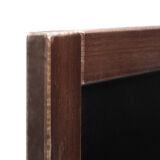 Pizarra clásica vintage Ariza 65, madera barnizada. Versión económica