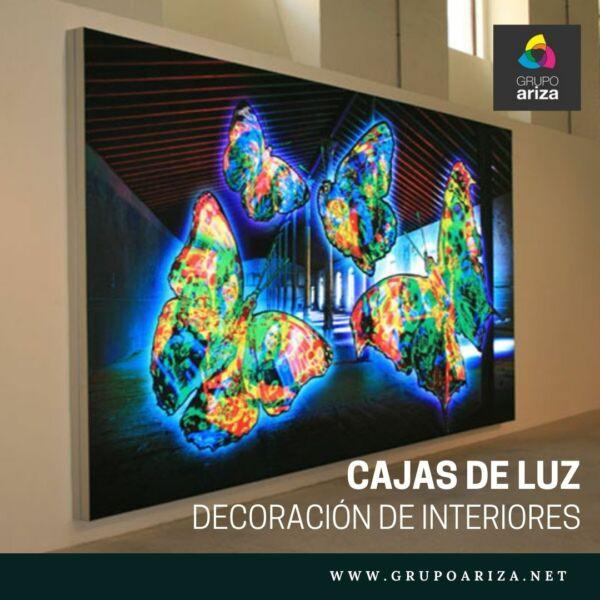 cuadros retroiluminados con luz LED - Cajas de Luz Ariza